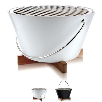 Outdoor BBQ Charcoal Grill: EVA SOLO TABLE GRILL - WHITE