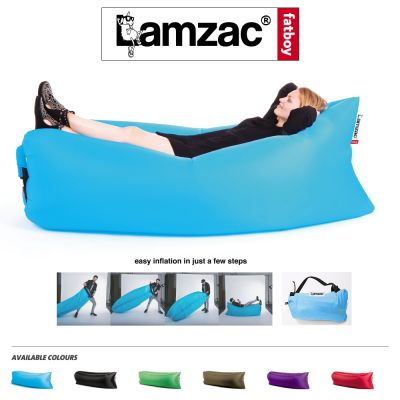 Inflatable Air Lounge Puff: FATBOY LAMZAC THE ORIGINAL -Aqua Blue & more colors