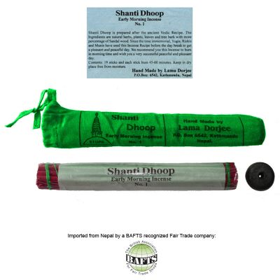 Incenso Orgânico Tibetano -FairTrade: SHANTI DHOOP MORNING