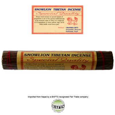 Incenso Tibetano Ritual -FairTrade: SNOWLION SPECIAL QUALITY